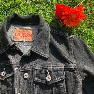 Vintage Guess black jeans jacket 💕